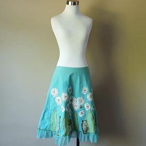 4 / Basil & Maude / Skirt / Turquoise / Small